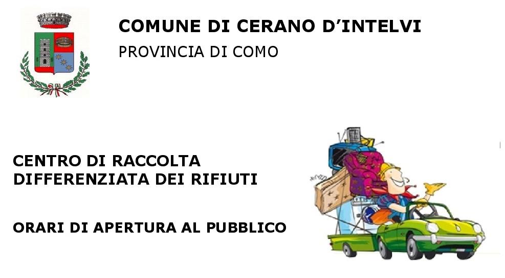 Raccolta Rifiuti Ingombranti Roma Calendario 2020.Comune Di Cerano D Intelvi Co